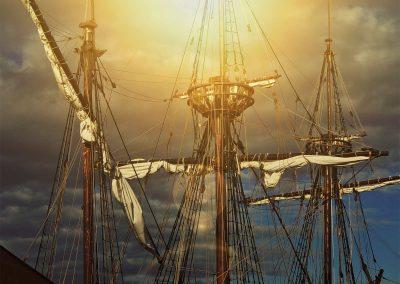 De masten van de halve Maen