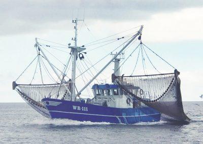 Vissersschip op de Waddenzee