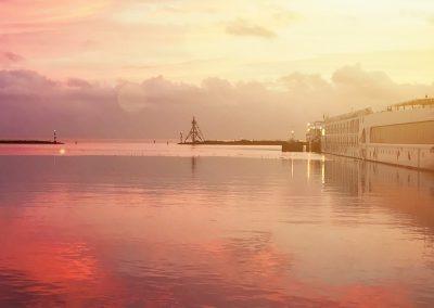 Mooie luchten tijdens zeilen op de binnenwateren in Nederland